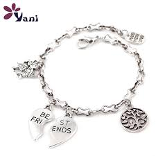 charm bracelet jewelry images 10pcs lot mix styles fashion girl boy broken heart best friends jpg