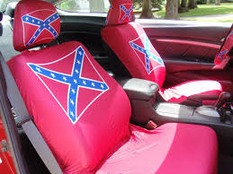Truck With Rebel Flag Rebel Flag Car Seat Covers Car Seat Cover Gallery