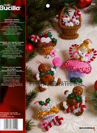 cupcake angel 6 pce bucilla felt christmas ornament kit 86242