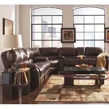 Reclining Sectional Sofas by A Plus Home Furnishings Alan Three Piece Reclining Sectional