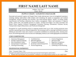 Resume For Logistics Executive 9 Supply Chain Resumes Mla Cover Page