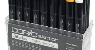 amazon com limited edition copic 25th anniversary sketch pen set