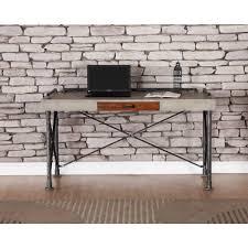 Industrial Computer Desks Desk Industrial Computer Desk Black Solid Wood Computer Desk
