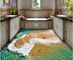 3d flooring 3d flooring waterproof wall paper starfish house interior shop