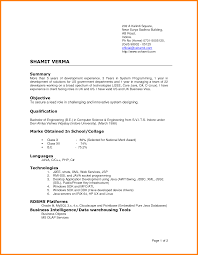 Two Page Resume Format Example 4 Latest Cv Format Sample Ledger Paper