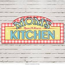 retro kitchen decor and 1950 kitchen tables and accessories at moms kitchen open 24 hours vintage metal sign