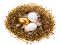 golden easter egg golden easter egg in nest financially wise