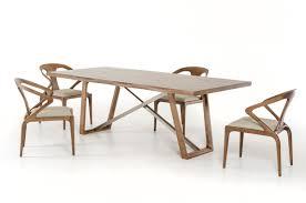 modrest olson modern walnut dining table
