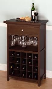 Wine Storage Cabinet Wine Storage Cabinet White Granite Countertop Brown Wooden Leather