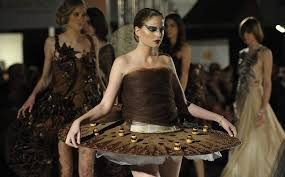 edible clothing edible dresses made from chocolate at salon du chocolat in