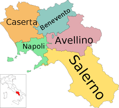 provinces of italy map a detailed map of cania italy