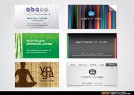six modern business card templates free vector 123freevectors