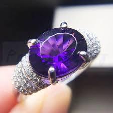 real crystal rings images Amethyst ring natural real amethyst 925 sterling silver 4 5ct gem jpg