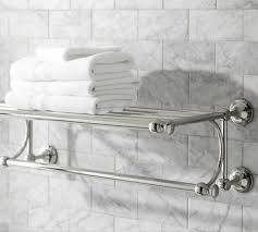 towel racks for tile in polished nickel all products bath