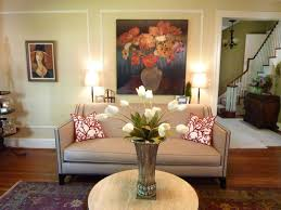 tall silver flower vase centerpiece for small round coffee table
