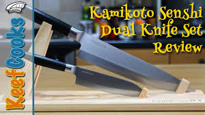best kitchen knives review kamikoto senshi dual knife set review japanese chefs knives