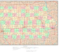 Map Of Des Moines Iowa Iowa Political Map