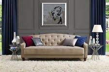 sofa futon bed couch sleeper tufted convertible vintage mattress