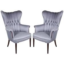Wingback Armchair Perth Sophisticated Pair Of 1940 U0027s Hollywood Tufted U0026 Channel Back