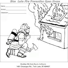 fire safety coloring pages free printable fire truck coloring