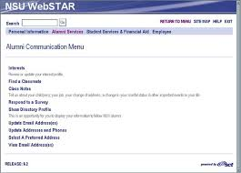 how to find a classmate webstar for alumni communication nsu computing help