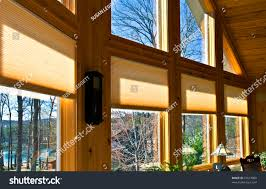 large windows house showing window treatments stock photo 72513808