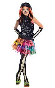 skelita calvaeras tights girls fancy dress halloween monster