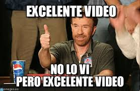 Meme Video - excelente video chuck norris approves meme on memegen