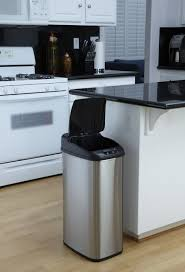 Tall Trash Can by Nine Stars Motion Sensor Slim Touchless 13 2 Gallon Trash Can