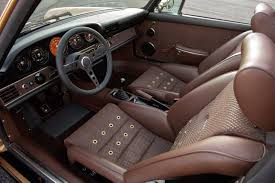 Porsche 911 Back Seat - interior modifications by singer vehicle design for this customers