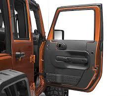 4 Door Jeep Interior Redrock 4x4 Wrangler Black Interior Door Shield J103744 07 10