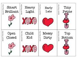 Light Synonyms Valentine U0027s Day Synonyms Or Antonyms By Speech Time Fun Tpt