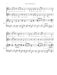 song of praise and thanksgiving song of thanksgiving by amy j van dyk 2 part choir