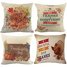 happy thanksgiving throw pillow covers wonder4