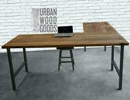 pipe desk with shelves l shaped desk with shelves industrial l shaped desk wood desk pipe