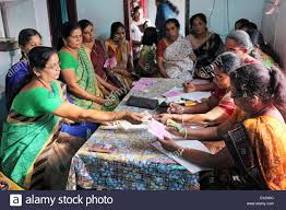 of a micro finance loan self help meeting of a saving