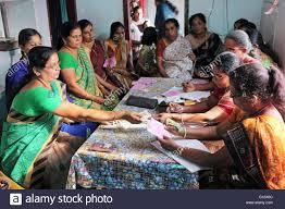 of a micro finance loan self help meeting of a saving