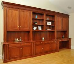 hand made traditional mahogany wall unit home office desk by
