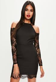 Black Cocktail Dresses With Sleeves Lace Dresses Short U0026 Long Sleeved Lace Dress Missguided