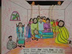 Jesus Heals The Blind Man Preschool Craft Jesus Heals The Paralyzed Man Printable Crafts Jesus Heals And