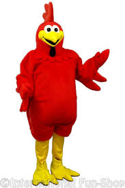 Rooster Halloween Costume Fat Red Rooster Mascot Costume International Fun Shop