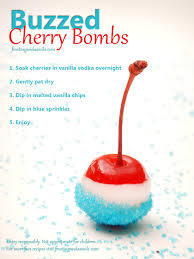 buzzed cherry bombs vodka soaked cherries frosting and a smile