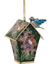 bargains on cloisonne birdhouse ornament