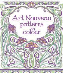 art nouveau patterns color 043809 details rainbow