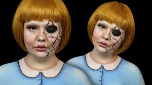 cracked doll halloween make up tutorial itsgottabehalloween