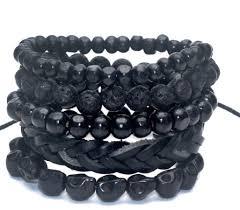 black skull bracelet images Bundle 5 pcs black skull bracelet metalskulls png