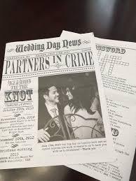 newspaper wedding programs 8 page custom newspaper wedding program newspaper program