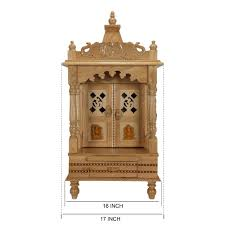 Mandir Decoration At Home Sevan Wood Mandir Temple For Home And Offices Sw121633 Sevan