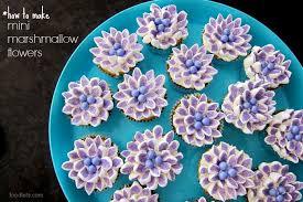 cupcake flowers how to make mini marshmallow flowers jpg