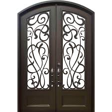 Metal Front Doors For Homes With Glass by Allure Iron Doors U0026 Windows 62 In X 97 5 In Eyebrow St Lucie
